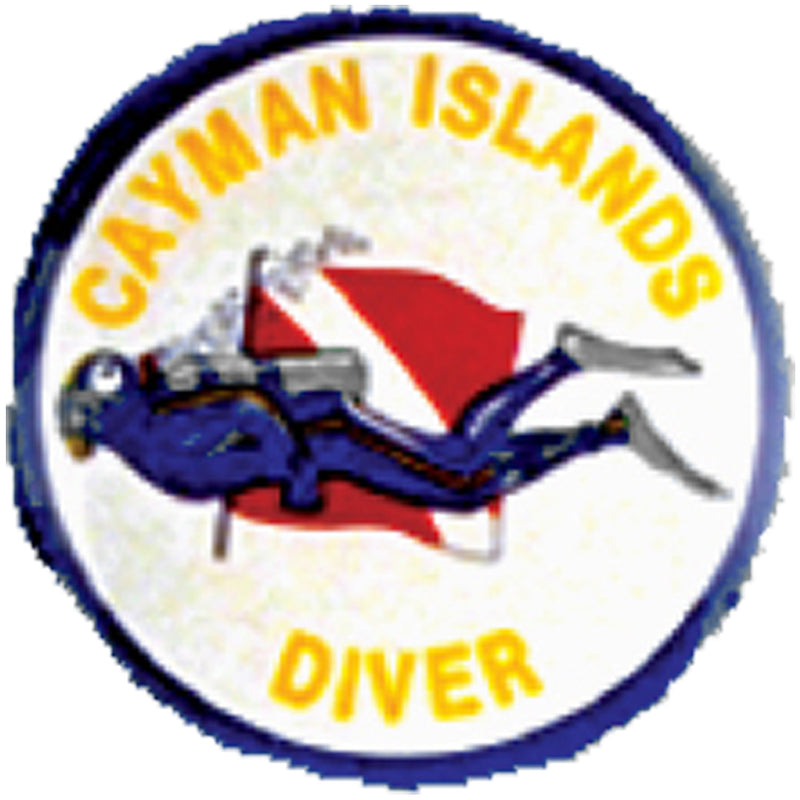 Round Cayman Diver Sticker