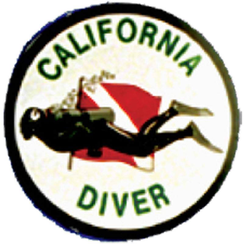 Round California Diver Sticker