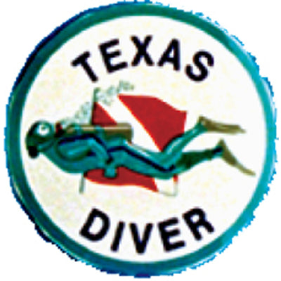 Round Texas Diver Sticker