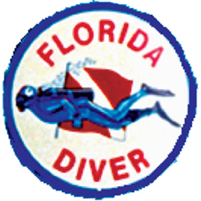 Round Florida Diver Sticker