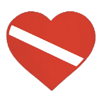 Heart Dive Flag Sticker