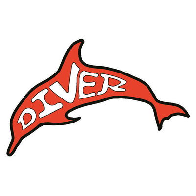 Dolphin Diver Sticker