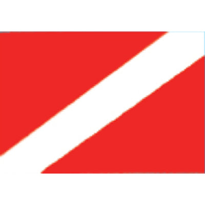 Trident Reversed Diver Down Flag Decal For Use On Glass, 2 x 3 Inch