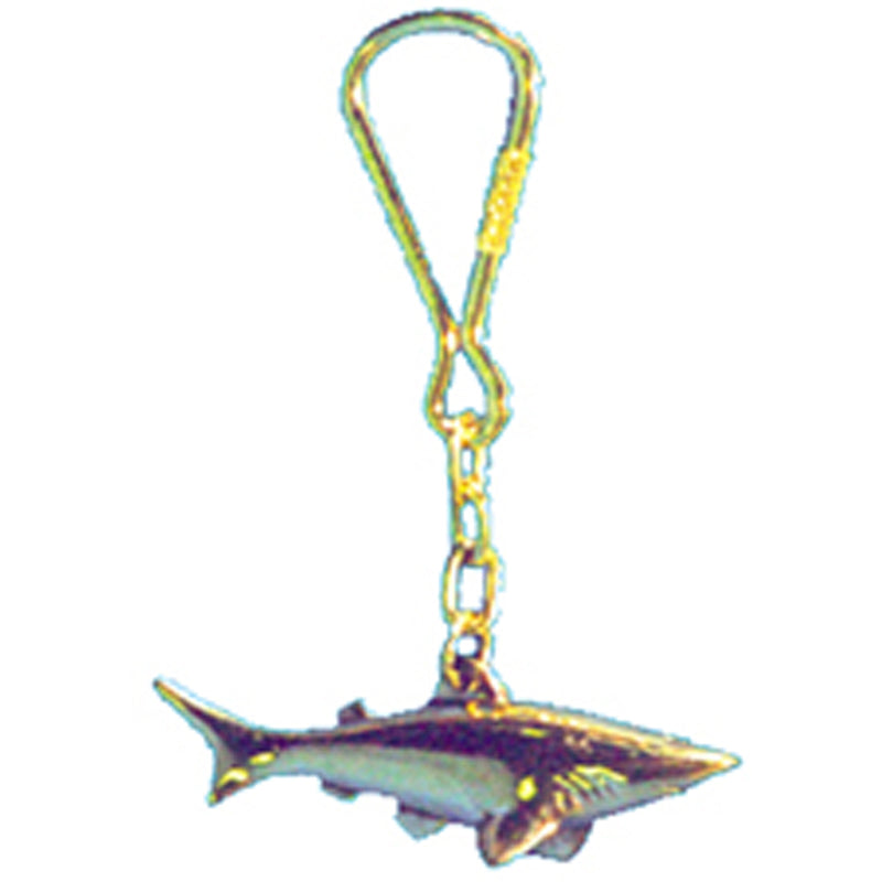 Brass Shark Key Ring