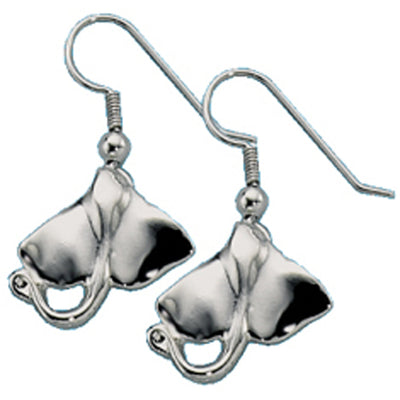 Stainless Steel Sting Ray Earrings