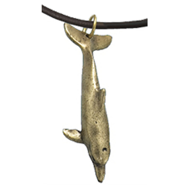 Dolphin Necklace Antique Brass