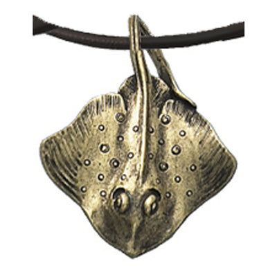 Sting Ray Necklace Antique Brass