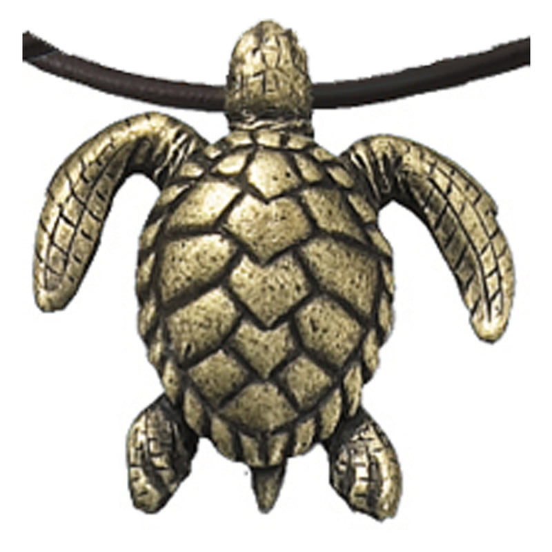 Antique Brass Turtle Necklace