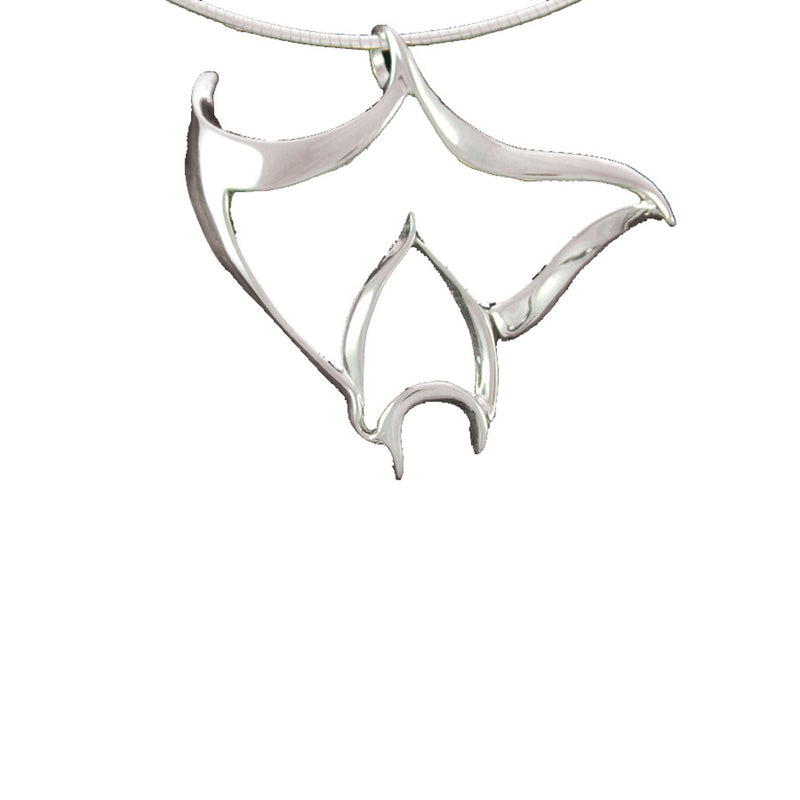 Sterling Silver Manta Pendant