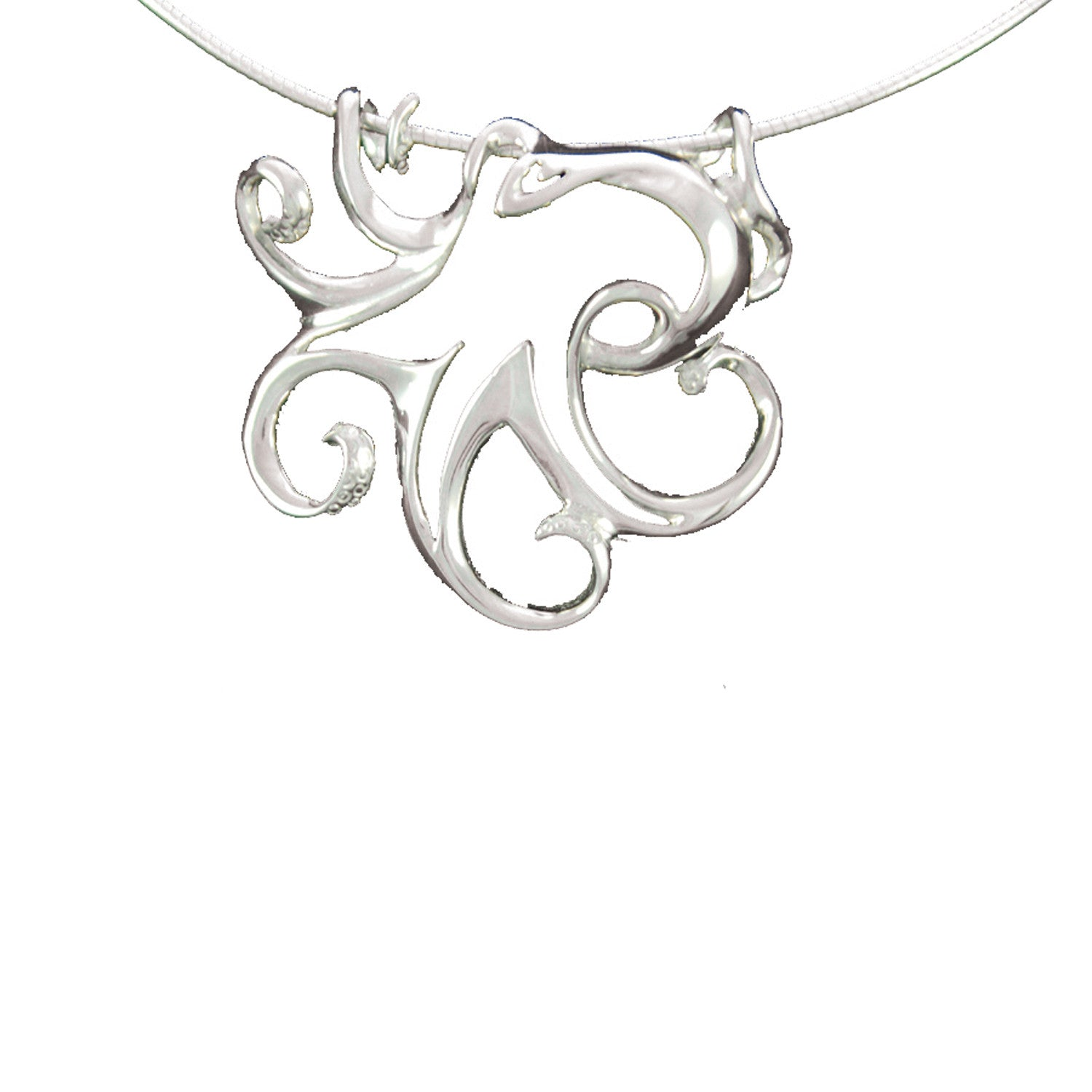 custom pendant diamonds kraken made in octopus sterling products and