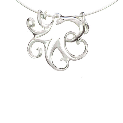 Stainless Steel Octopus Pendant