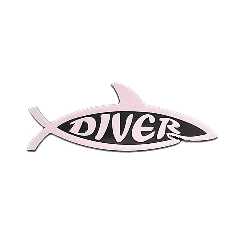 Shark Diver Stick On Emblem