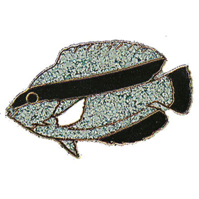 Black Stripe Fish Pin