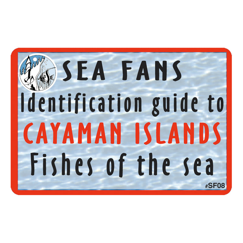 Waterproof Fish ID Fan Deck With Swiveling Snap Hook, Cayman Islands