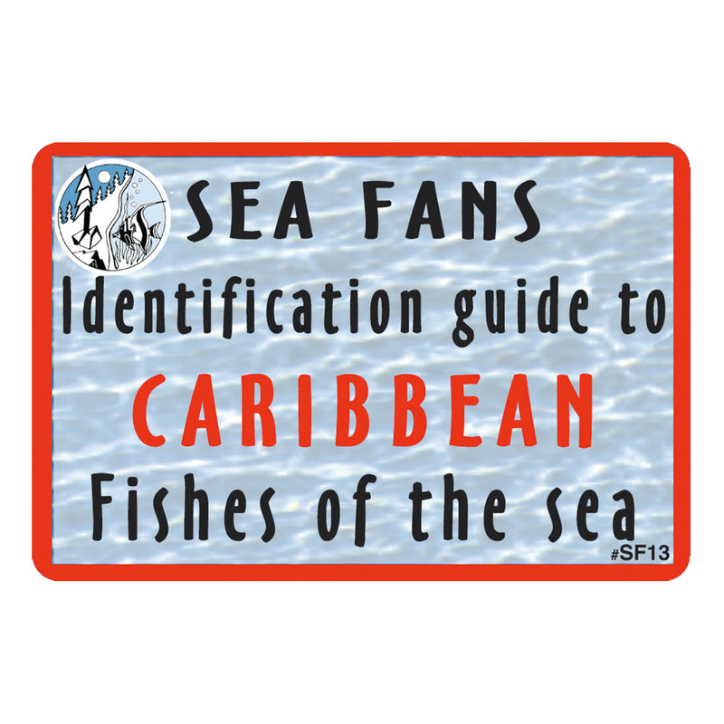 Waterproof Fish ID Fan Deck With Swiveling Snap Hook, Caribbean