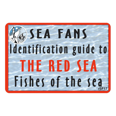 Waterproof Fish ID Fan Deck With Swiveling Snap Hook, Red Sea