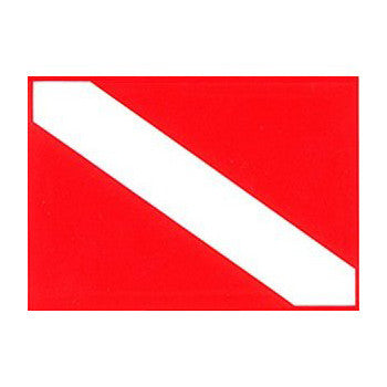 Trident Vinyl Diver Down Flag Sticker, 2 x 3 Inch