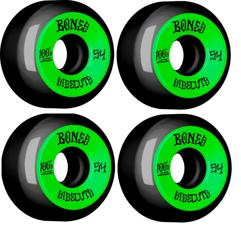 Bones 100's 54mm Black Sidecut Skateboard Wheels
