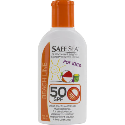 SafeSea® Jellyfish Sting Prevention Lotion with Sunblock for Kids, SPF 50
