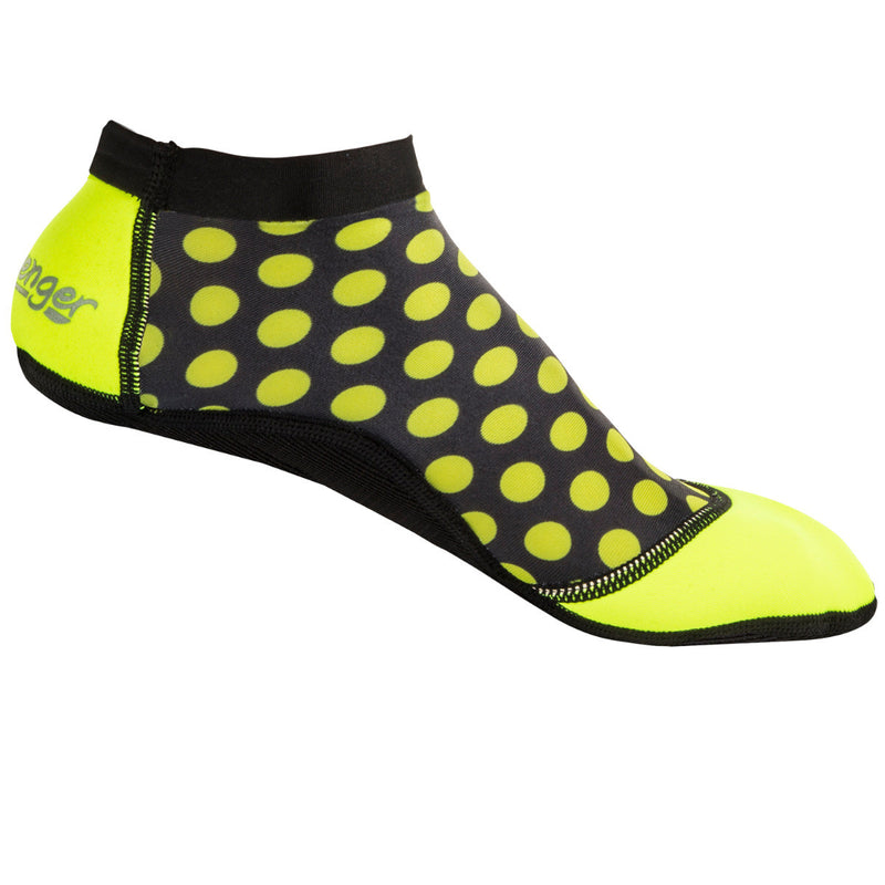 short yellow polka dot beach socks