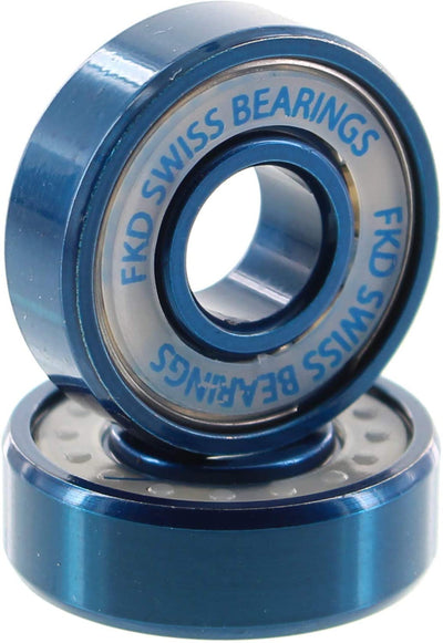 FKD Swiss Ice Skateboard Bearings (Set of 8)