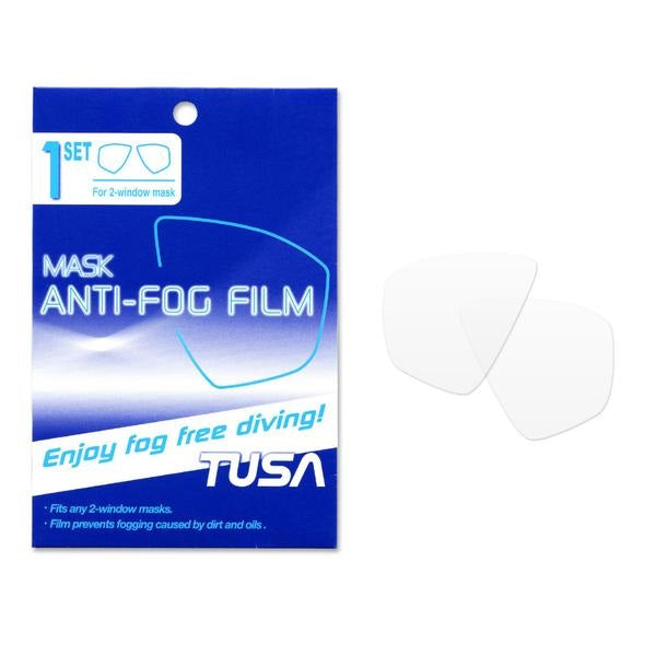 TUSA Freedom Film Anti-Fog Sheets for 2-Window Dive Mask