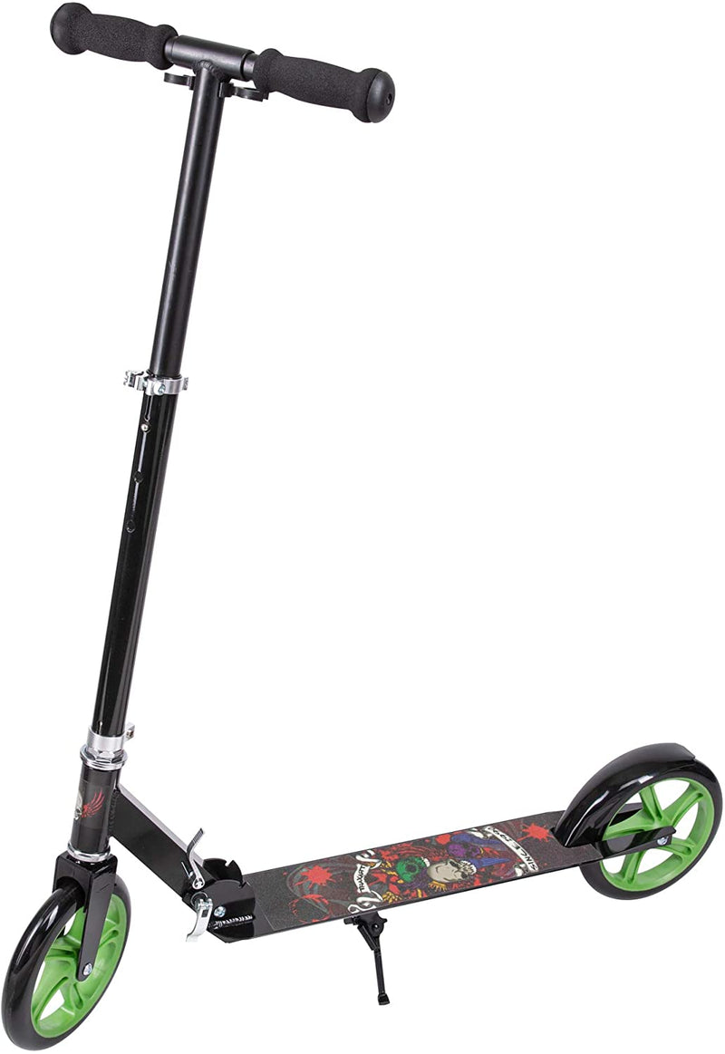 Traxart Foldable Kick Scooter for Boys and Girls (Skull)