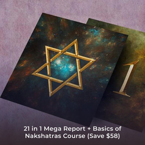 21 in 1 Mega Report + Basics of Nakshatras Course (Save $58)