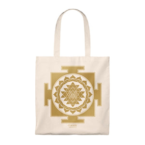 Sri Yantra Cosmic Insights Tote Bag