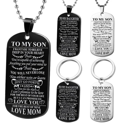 Dad\mom To Son\daughter Pendant Personalized Necklace, jewelry - powermovz