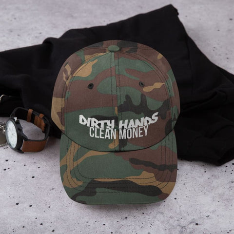 Dirty Hands, Clean Money Embroidered Dad hat, [product_type] - powermovz