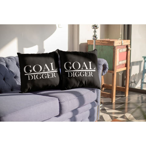 "Goal Digger 18""x18"" pillow (set of 2), pillow - powermovz"