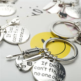 """If Dad Can't Fix It No One Can"" Keychain, [product_type] - powermovz"