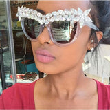 Luxury Cat Eye Diamond Sunglasses, shades - powermovz