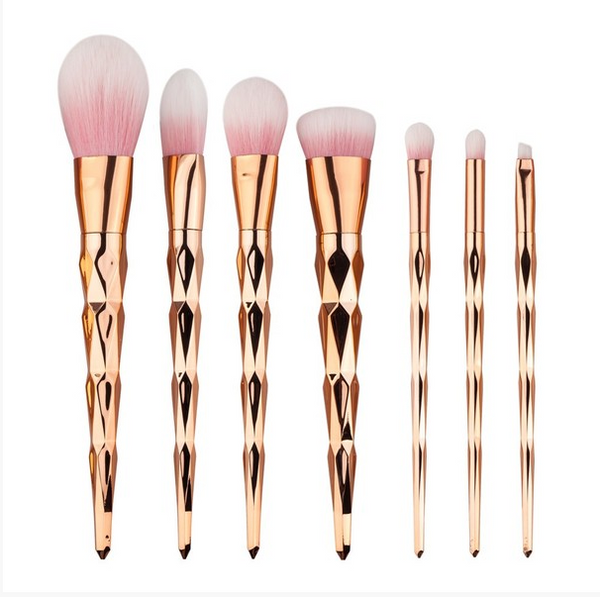UNICORN MAKEUP BRUSHES - GOLD
