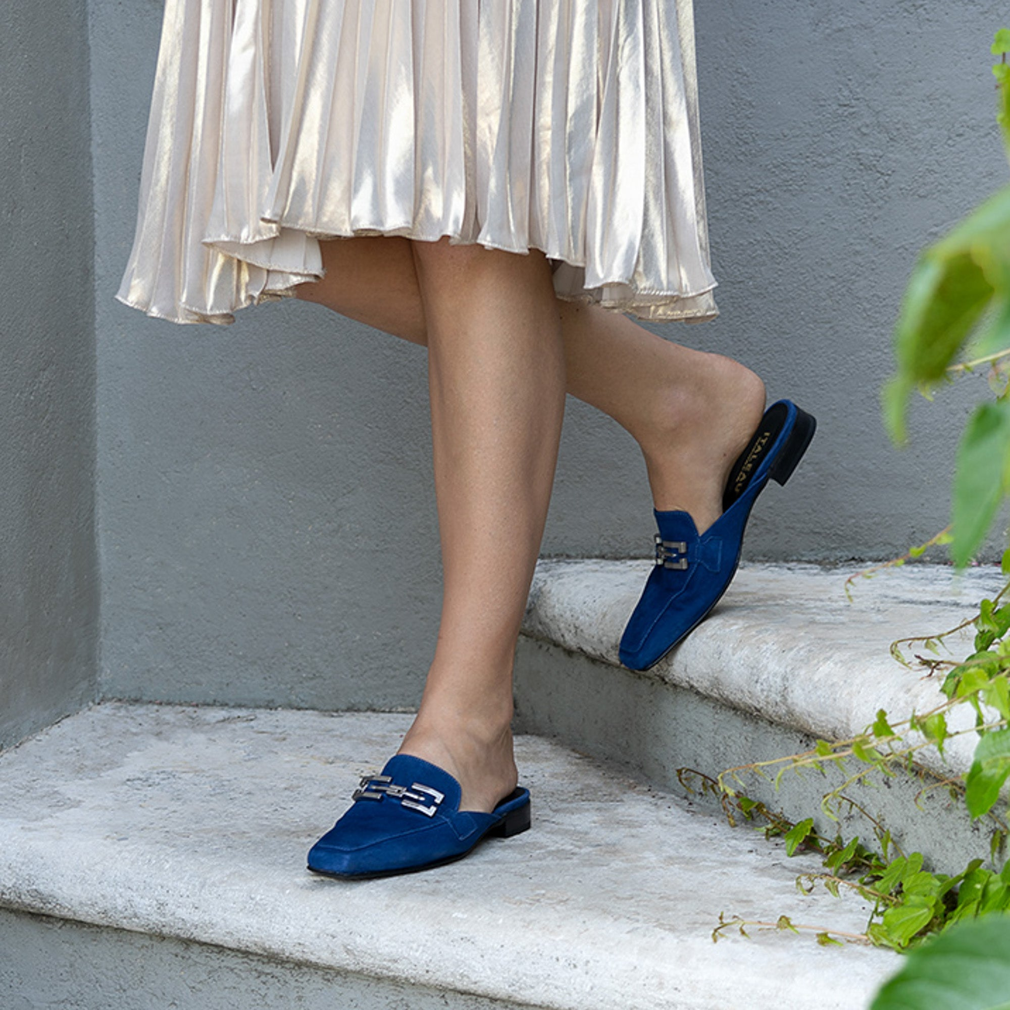 Italeau Cecile mules look great with everything and are made in Italy