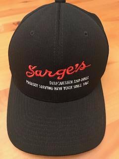 Sarge's Black Performance  Flexfit 110 Hat with Embroidered Sarge's LOGO on Front & Rear
