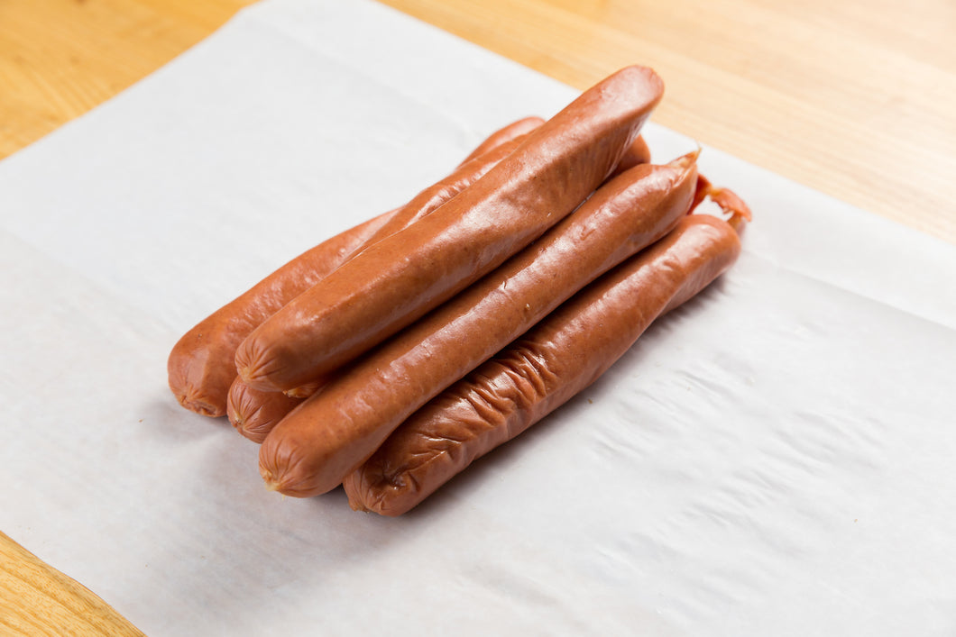 Franks (1 lb. All Beef Kosher) Hot Dogs Approx: (Natural Casing) 6 to 7 per pound