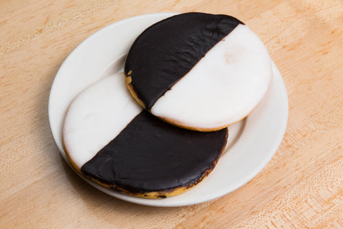 12 Large Black & White Cookies