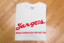 Sarge's 100% Cotton Tee's (White, Black or Red)