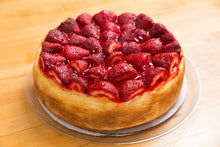 "Cheesecake 10 Inch (Topped with Fresh Strawberry's) ""Mom's Famous  Recipe"""