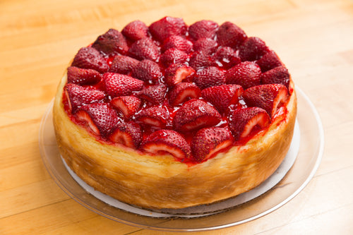Cheesecake 10 Inch (Topped with Fresh Strawberry's)