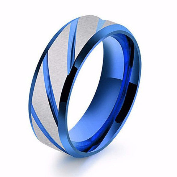 Superman Stainless Steel Blue Ring for Man