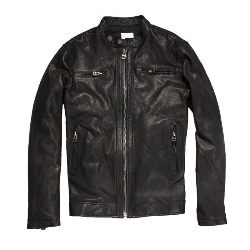 Black Goat-Skin Leather Jacket