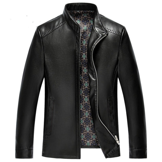 Black Lightweight Leather Jacket