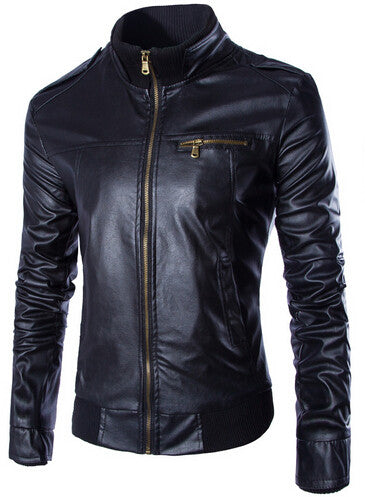 Slim Biker Leather Jacket