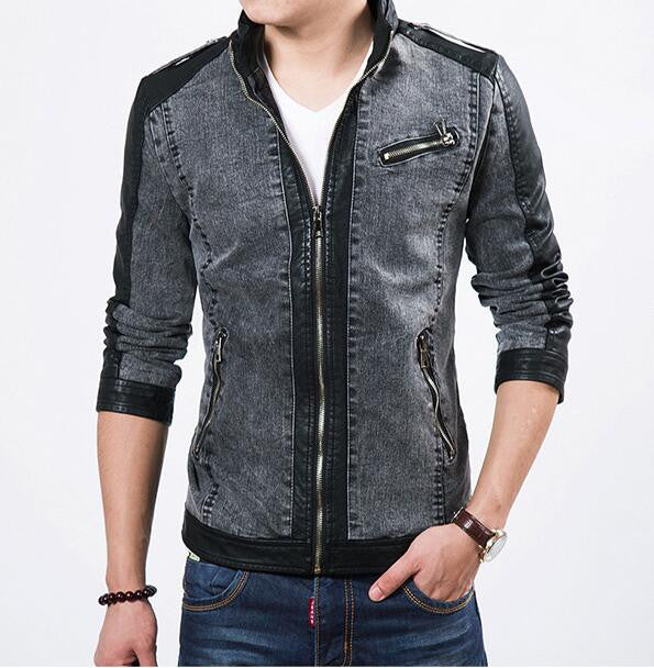 Denim + Leather Style Jacket