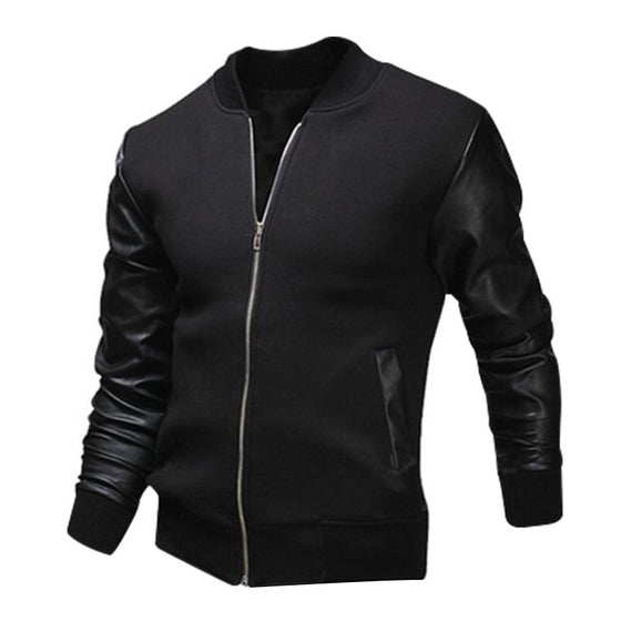 Washable Baseball Leather Jacket