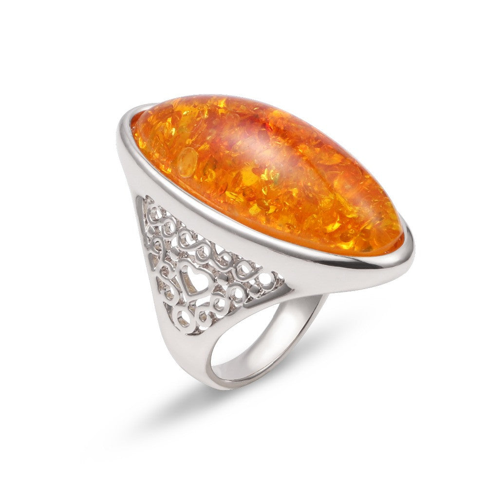 Yellow Bohemian Rose Gold Ring