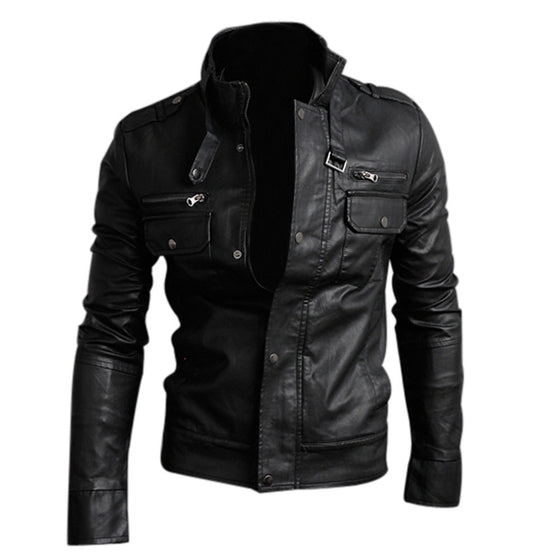 Black PU Leather Jacket